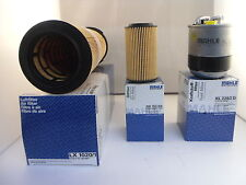 Mercedes C Class C200 CDI Service Kit Oil Air Fuel Filter 07-10 OPT1 *OE MAHLE*