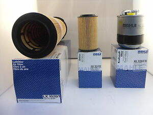 Mercedes C Class C220 CDI Service Kit Oil Air Fuel Filter 07 to 10 OPT1 MAHLE