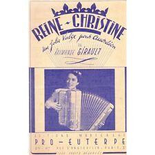 REINE-CHRISTINE Valse Musette Accordéon Création et musique de Raymonde GIRAULT