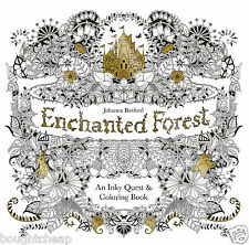 Enchanted Forest: An Inky Quest and Colouring Book Paperback - BRAND NEW -