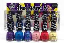 China Glaze Nail Lacquer MINI - THE MANE 6 My Little Pony - 6 Colors x 0.125oz