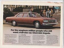 Original 1976 Chevrolet Impala Magazine Ad - For The Umpteen Million People...