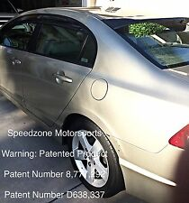 Speedzone Rear Roof Visor With Brackets Civic 2006-2011 4dr 4th Gen