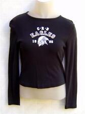 Canyon River Blues Women Juniors Top Shirt M Print Gold EAGLES Long Sleeve Black
