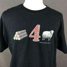 4d1feb588 Settlers Of Catan Men's T-Shirt XL Wood For Sheep Mayfair Board Games 2010  Black