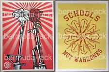 SHEPARD FAIREY GUNS ROSES M16 AK47 PRINT POSTER OBEY AMPLIFIER SCHOOLS NOT WAR