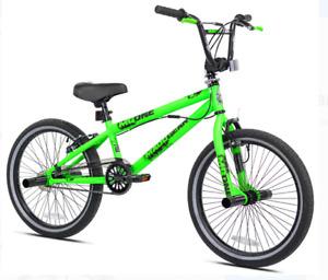 """Bicicleta  niños BMX Freestyle de 20 """", verde - NUEVO acero resistente"""