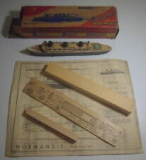 Wood Model French Line Normandie, plus unbuilt model