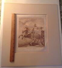 Antque Etching Bunbury Circa 1790