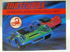 Dutch Edition 1971 MATCHBOX Diecast TOYS CATALOG England unused nm to mint