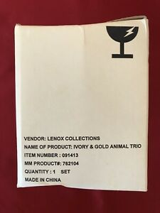 Lennox Collections, The Lennox Ivory And Gold Animal Trio