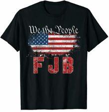 We The People Fjb Biden American Flag Vintage Retro T shirt Unisex Cotton Black