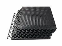 ProSource Exercise Mat High Quality Interlocking Tiles  Covers 24 Square Feet