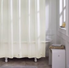 Extra Light Weight Shower Curtain Liner Waterproof Magnet Ivory - Sealed New!