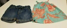 2pce Baby Gap Lot Baby Girl around 2000' Shorts Top Really cute outfit