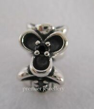 Authentic Genuine Pandora Sterling Silver Black Wanda's Garden Spacer 790861CZK