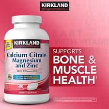 Kirkland Signature Calcium Citrate with Vitamin D, Magnesium & Zinc 500 Tablets