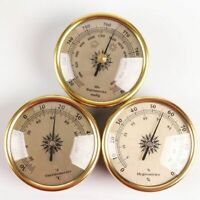 3 Pcs Barometer Weather Forecast Station 72x33mm Hygrometer Thermometer Gauges