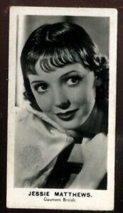 Tobacco Card, Walkers, FILM STARS, 1935, Jessie Matthews