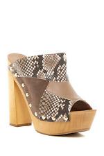 SHELLYS London Kitty Snake Embossed Peep Toe Platform Sandal sz 39 us 8.5 new