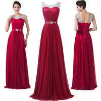 Long Formal Wedding Bridesmaid Evening Party Ball Prom Gown Cocktail Maxi Dress