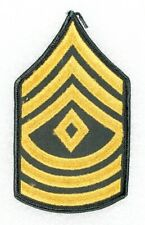 "Army Rank Chevron: First Sergeant - Post VN era, 3"" merrowed edge, single"