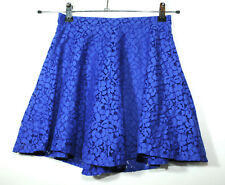 ROYAL BLUE LADIES CASUAL PARTY FLORAL LACE FULLY LINED SKIRT SIZE 6 TOPSHOP