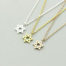 Small Jewish Star Of David Pendant Necklace Silver Gold Stainless Steel Jewelry