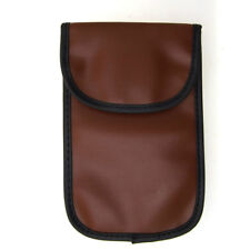 Brown Pouch Leather Bag Holder For Mobile Mp3