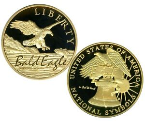 NATIONAL BIRD HIGH RELIEF COMMEMORATIVE COIN PROOF $99.95