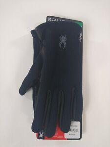 Spyder Black Leather Palm Stretchable Gloves  SIZE XL