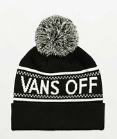 NWT VANS Off The Wall PEP RALLY BEANIE Classic Knit Pom Cuff BLACK WHITE  Unisex