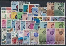 Cept Jahrgang 1967 postfrisch in den Hauptnummern kompl.........................