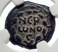 Biblical Jerusalem Saint Paul NERO Time PORCIUS FESTUS Ancient Roman Coin i70638