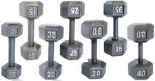 CAP IRON HEX DUMBBELL WEIGHTS 12LB 15LB 20LB 25LB 30LB PAIRS BARBELL GYM FITNESS