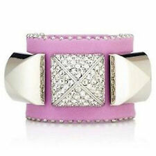 Juicy Couture Bracelet Crystal Pyramid Leather Cuff NEW $72