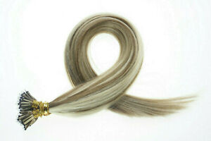 Nano Ring Human Hair Extensions Halo Micro Ring Beads Double Drawn 1 GRAM Salon