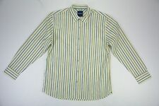 Men's Tommy Bahama XL Striped Cotton & Silk Long Sleeve Button Up Shirt NEW NWT
