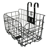 Foldable Bicycle Bike Basket Front Rear Metal Wire Storage Carrier Rear Hanging