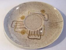 Vintage Red Wing Pottery Crazy Rhythm Saucer Mid Century Modern