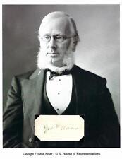 George F Hoar Autograph Senator Massachusetts Worcester Institute Science