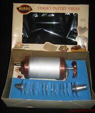 Vintage Mirro Cooky Pastry Cookie Press 358-AM Original Box Aluminum Tips