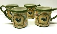 AMERICAN ATELIER Rooster 5644 Set of FOUR Coffee Mugs Cups UNUSED 4