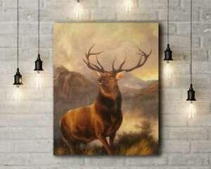 Sir Edwin Landseer: The Monarch of the Glen. Canvas Art Print
