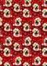 Festive Pup Yellow Labrador Puppy Dog Christmas gift wrap 6 sheets & 6 tags
