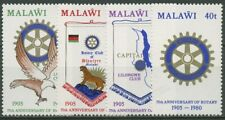 Malawi 1980 Rotary International Clubwimpel Emblem 340/43 A postfrisch