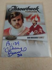 Dan Bouchard 2010-11 Certified Throwback Threads Auto #68/100 Flames