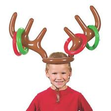Christmas Party Moose Reindeer Antler Ring Toss Inflatable Holiday Game Gift