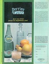 ▬► PUBLICITE ADVERTISING AD PERRIER EAU GAZEUSE Drinks arc-en-ciel