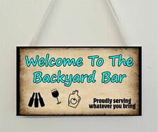 Garden Backyard Bar Funny Novelty Bar Signs Home Decoration Man Cave Gifts
